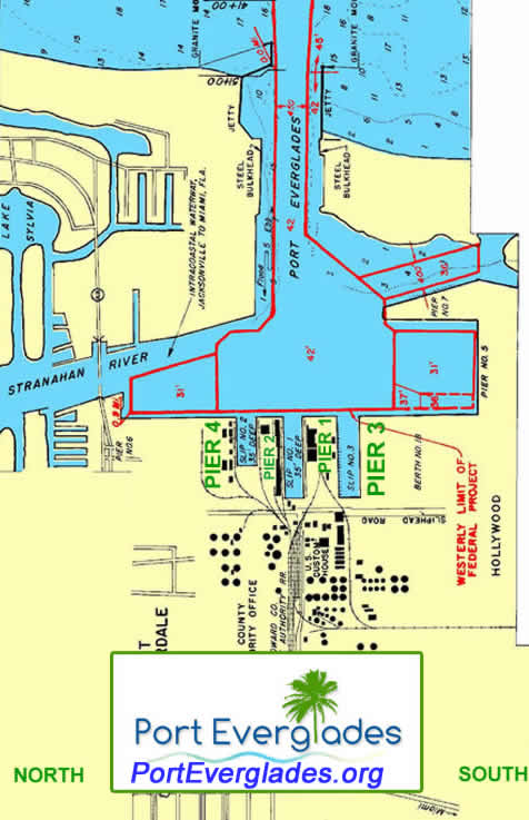 Directions To Port Everglades Google Map And Port Map Of