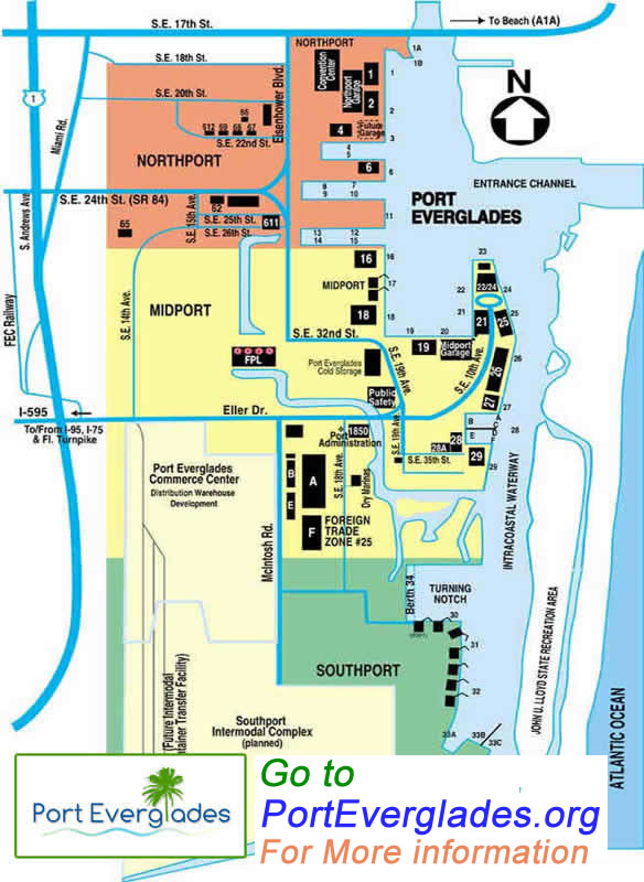 Port Everglades Port Map